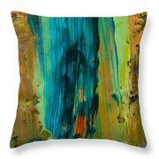 The Flair Of The Flame Abstract Throw Pillow