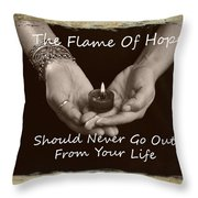 The Flame Of Hope Throw Pillow