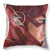 The Flash / Grant Gustin Throw Pillow