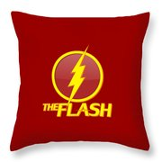 The Flash Logo Throw Pillow