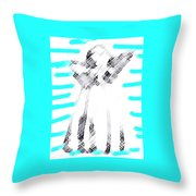 The Flash Of An Angel Throw Pillow