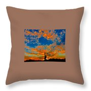 The Flavor Of The Sky Throw Pillow