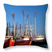 The Fleet Freeport Texas Throw Pillow