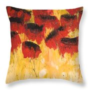 The Fleeting Nature Of Poppies Throw Pillow