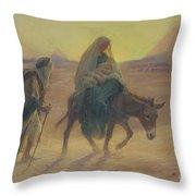 The Flight Into Egypt  Throw Pillow