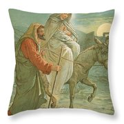The Flight Into Egypt Throw Pillow by John Lawson