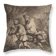 The Flight Into Egypt: Small Throw Pillow