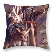 The Flight Into The Egypt Throw Pillow