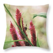 The Flight Of The Bee Throw Pillow