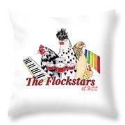 The Flockstars Throw Pillow by Sarah Rosedahl