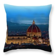 The Florence Cathedral  Throw Pillow