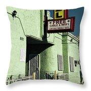 The Flores Motel Throw Pillow
