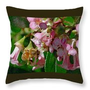 The Flower Bee Throw Pillow