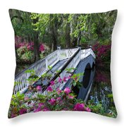 The Flower Bridge Throw Pillow