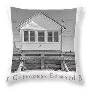The Flower Cottages Trio Poster Throw Pillow