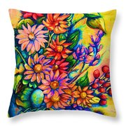 The Flower Dance Throw Pillow