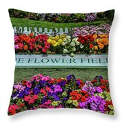 The Flower Field Throw Pillow