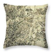 The Flower Garden, 1888 Throw Pillow