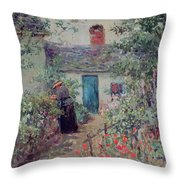 The Flower Garden Throw Pillow