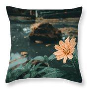 The Flower Throw Pillow