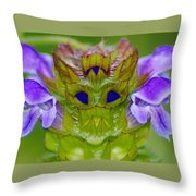 The Flower King Throw Pillow
