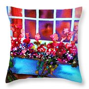 The Flowerbox Throw Pillow