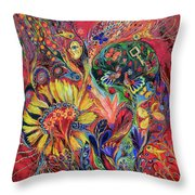 The Flowering Throw Pillow