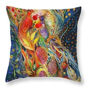 The Flowers And Fruits Throw Pillow