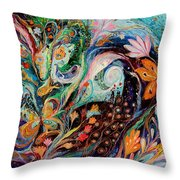 The Flowers And Sea Throw Pillow