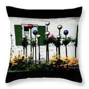 The Flowers And The Balls Throw Pillow