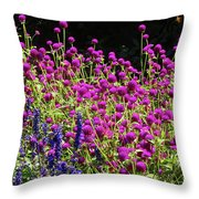 The Flowers And The Bees Throw Pillow