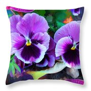 The Flowers Of Eleanor  Throw Pillow