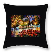 The Flowers Of Luxembourg Throw Pillow