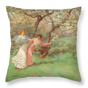 The Flowers Of May Throw Pillow