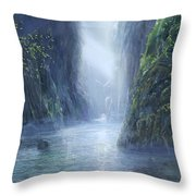 The Flowing Of Time Throw Pillow