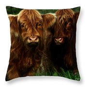 The Fluffy Cows Throw Pillow