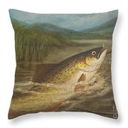 The Fly Fisherman's Net Throw Pillow