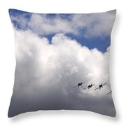 The Flying Beetles Throw Pillow