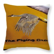 The Flying Crane Throw Pillow