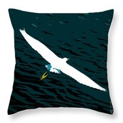 The Flying Egret Throw Pillow