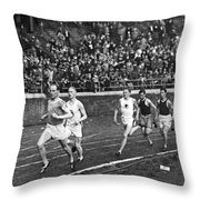 The Flying Finn Takes The Lead Throw Pillow