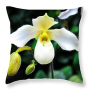The Flying Orchid Throw Pillow