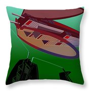 The Flying Skyscraper Throw Pillow