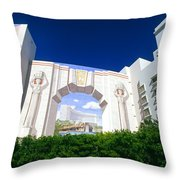 The Fontainebleau Hotel Throw Pillow