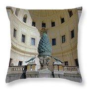 The Fontana Della Pigna In The Vatican City Throw Pillow