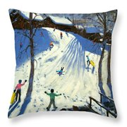 The Footbridge Throw Pillow by Andrew Macara