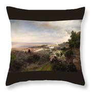 The Footpath From Ariccia To Albano Throw Pillow