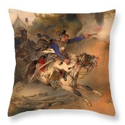 The Foraging Hussar 1840 Throw Pillow