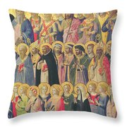 The Forerunners Of Christ With Saints And Martyrs Throw Pillow