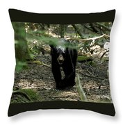 The Forest Bear Throw Pillow